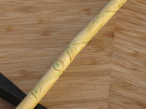 Vine wrapped elder wood wand 14 3 4 long for Wooden elder wand